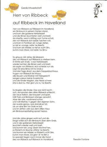 Ribbeck - Gedicht