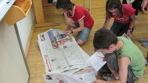 Zeitung - Bilderrätsel